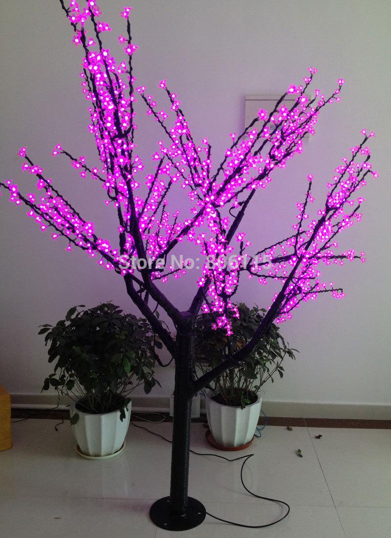 LED christmas tree 70-80W 2M cherry tree light, ,pink LED Cherry lights ,Led christmas tree light free shipping(China (Mainland))