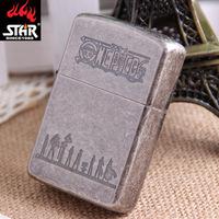 Genuine star STAR steel shell metal windproof lighter kerosene wholesale ancient silver One Piece G6179
