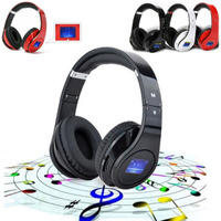 Bluetooth BQ-968 Headphone Foldable High Fidelity Surround Sound Wireless Stereo Headset LCD Display For Phone Laptop PC Tablets