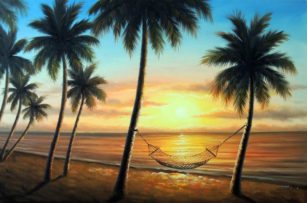 Island Beach Palm Tree Island Shore Palm Tree Oil