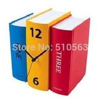 gz081  Free shopping 1pcs Karlsson design books Individuality creative stiff paper book clocks Vintage/ shelf clock