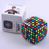 YJ MoYu Aofu Black 7x7 Speed Cube 7x7x7 Twist Puzzle 8.1cm Educational Toys Children Gift Toys