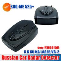 2014 New SHO-ME 525+ Car Radar Detectors Russian With X/K/KA/Ultra-X/Ultra-K/Ultra-KA/VG-2/Laser 360 Degrees (CR-03)