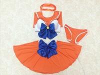 New 2014 Vintage Bikini Girl SEXY Navy Cosplay Costumes Moon 20th Anniversary Edition Lingerie Bikini Swimsuit Girl Sailor Suit
