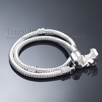 24 Hours Dispatch! 925 Silver 3MM Snake Chain Fit European Beads Charms Pandora Bracelets (7''-8.5'' For Choice)  free shipping