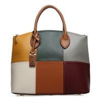 OPPO brand new European and American fashion handbags handbags women handbag 2014 classic retro hit color PU leather handbags