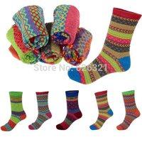 1Pair Hot New Retro Women Ankle Socks Ladies Casual Cotton Long Socks Cute Striped High Socks Gift Free Ship