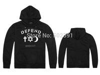 free shipping New arrival casual men's AK47 hoody 2014 autumn winter hip hop Fashion DEFEND PARIS Hoodies size:S -2XL