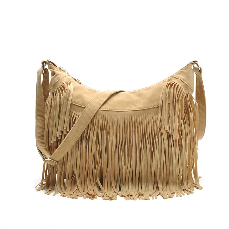 2015 New Women Handbag Tassel Crossbody Bag Shoulder Bag Women Messenger Bags Designer Handbags High Quality Bolsas Femininas(China (Mainland))