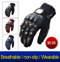 Free shipping! Cheapest Motorcycle gloves Racing gloves motorcross motorbike  full finger carbon fiber glove Size M /L /XL/XXL