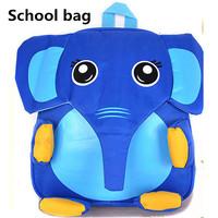 2014 New Fashion waterproof calf elephant school bags cute animal cartoon mochila kindergarten mochila infantil