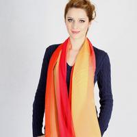 Quality sunscreen women's gradient silk scarf summer mulberry silk 100 women's large cape silk sunscreen