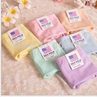 50 pcs/lot Free shipping wholesale  Japan  orders candy colored underwear 100% cotton  underwear women underwear A001 pure girl