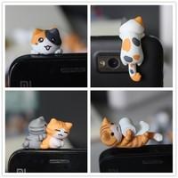 $15 Free Shipping kpop kawaii original quality Chi's cat Anti dust plug 17 style for cell phone/cute anime ear jack earphone cap
