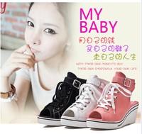 Canvas shoes for women Increas  7cm huarache alpargata tenis feminino size 35-- 39