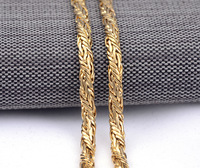 New Fashion 60cm Long Men Gift Jewelry 18k Gold Palted Chain Necklace For Men