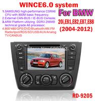 free shipping WINCE6.0 system for bmw 1 series e81 e82 e88 car dvd gps Bluetooth TV IPOD SD/USB