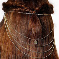 Fashion bohemian indian tribal charm insert hair comb women wedding european jewelry 2014 free shipping