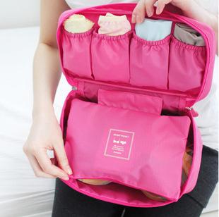 2014 New Travel Pouch Underwear Bra Versatile Finishing Pack Travel Women Zipper Organizer Cosmetics Bag Wash Bag 369-7(China (Mainland))