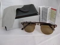 free shipping rb 3016 sunglasses women's/men's clubmaster retro fashion sunglasses with original box