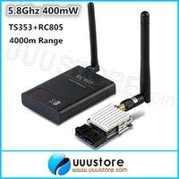 100% original Boscam 5.8G 5.8Ghz 400mw FPV  8 Channel wireless AV Transmitter and Receiver  TS353+RC805 Combo for DJI Phantom