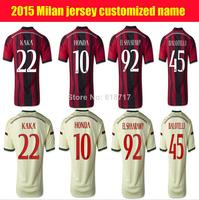 Kaka 2015 ac milan jersey thai quality balotelli AC milan shirt 2015 ac milan maillot 14 15 ac milan soccer jersey 2015