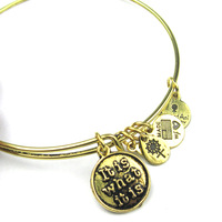 "Alex and Ani style Reading letter ""it is what it is""  Charm Bangles Silver and GOlden Plated Alloy Charm Bracelets and Bangles"