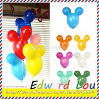 Hot sales 30pcs/lots wholesales 43*42cm Mickey Mouse latex balloons Birthday party wedding decoration balloon Free shipping