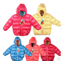 Dot child down coat three colors children winter jacket kid jacket outwear children outerwear SCG-3107 Free 2014 Russian Support