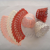 on sale white red pink cute flower paper laser cut baby shower cupcake liners decorations Cupcake Wrapper 72pcs free shipping
