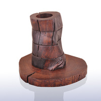 Southeast Asia import manual four storey rotating wooden candlestick crafts wholesale 2779-101660