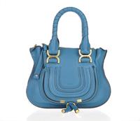 Top quality original brand marcie genuine calf leather blue ambre tote handbag shoulder bag fashion gift free shipping wholesale