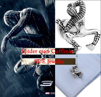brand cufflink Spider man cufflinks abotoadura for men gift present superhero cufflinks