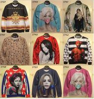 (Alice) free shipping women's hoodies o neck long sleeve good printing 3d sweatshirts women fashion sweatshirt 21models