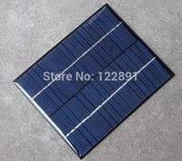 Wholesale 18V 2W Mini Solar Cell DIY Polycrystalline Solar Panel Solar Power Battery Charger 110*136*3MM 10pcs/lot Free Shipping
