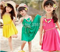 Hot / popular girls summer / Kids Tong  Children dress Korean Dress vest  baby dress free shipping