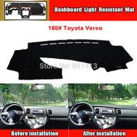 Dashboard Cover Mat for Toyota Verso sun block mat New Material Fireproof Polyester Fiber