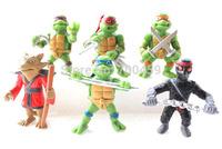 New version of the Teenage Mutant Ninja Turtles action figure TMNT 50 set of 300 dolls Free shipping