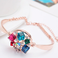 Colorful crystal Chain Bracelet  bracelet  jewelry