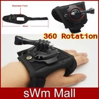2014 New Style Gopro 360 Degree Rotation Hand Strap Belt Wrist Tripod Mount for Go Pro HD Hero3/2/1/3+ Camera Accessories Black