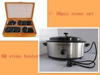 6Q stone heater with 36 pcs massage stone set(massage stone kit)