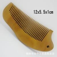 Free shipping Wholesale 10pcs/pcs Natural Original Brazil Green sandalwood comb handmade wooden hair combs 721807-5-3 12x5.5cm