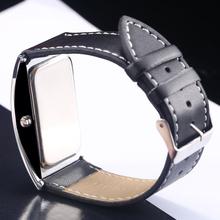 Retail Black Fashion LED Watch For Ladies Leather Bracelet Digital Wristwatches Women Boys Girls Unisex Luxury