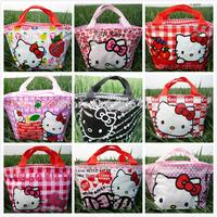 9CS Handbag Hello kitty cute lunch bag Girls