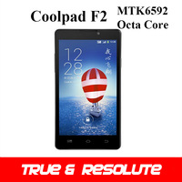 In Stock 5.0'' Coolpad F2 MTK6592 Octa Core 2GB+8GB Android 4.4 4G LTE Phone 1280*720P 13.0MP Camera Dual SIM GPS WiFi GSM