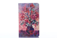100pcs/lot Free Shipping Special oil painting pu leather flip stand case cover for samsung galaxy S 8.4 T700 with card holder
