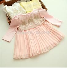 Free shipping 2014 Autumn Hot sell baby dress kids wear girls'Princess dress baby clothing Baby Girls Dresses vestido infantil(China (Mainland))