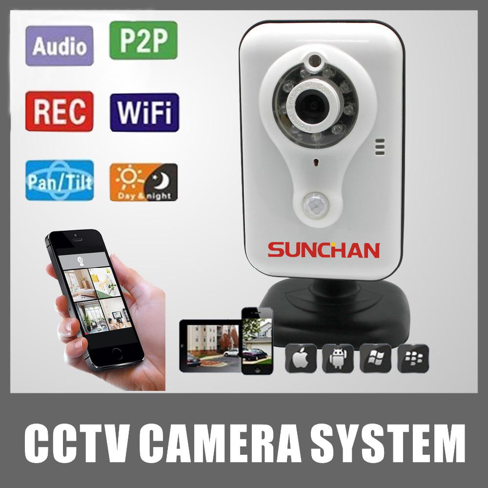 SunChan Wireless Mini IP Camera Indoor Use H.264 M-JPEG/JPEG Wifi/3G P2P HD Megapixel Network EPC-HR703(China (Mainland))