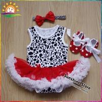 Cow Pattern Newborn Baby Layette Sets Dots Shoes Bow Headbands Set,Sandalia infantil,Toddler Clothing #7A5553 3 set /lot