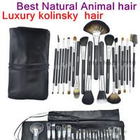Best Hair  Natural Animal hair makeup brushes set 22 pcs 22pcs Kolinsky sable Mink Hair Makeup cosmetic Brush Set kit with bag